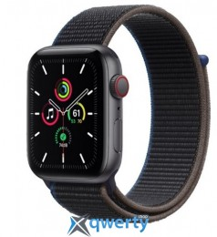 Apple Watch SE GPS + Cellular 44mm Space Gray Aluminum Case with Charcoal Sport L. (MYEU2) / MYF12