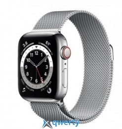 Apple Watch Series 6 GPS+ LTE (M02V3) 40mm Silver Stainless Steel Case with Silver Milanese Loop