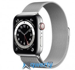 Apple Watch Series 6 GPS+ LTE (M07M3) 44mm Silver Stainless Steel Case with Silver Milanese Loop