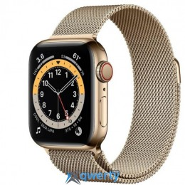 Apple Watch Series 6 GPS+ LTE (M07P3) 44mm Gold Stainless Steel Case with Gold Milanese Loop