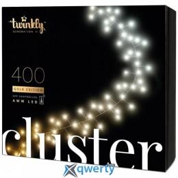 Twinkly Smart LED Cluster AWW 400 BT+WiFi Gen II IP44 кабель черный (TWC400GOP-BEU)
