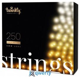 Twinkly Strings AWW 250, BT+WiFi, Gen II, IP44, кабель черный(TWS250GOP-BEU)