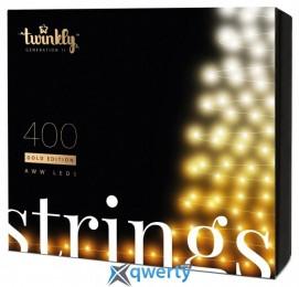 Twinkly Strings AWW 400, BT+WiFi, Gen II, IP44, кабель черный(TWS400GOP-BEU)