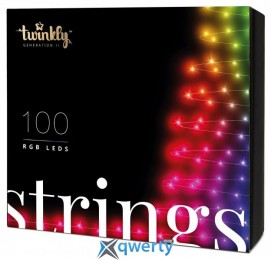 Twinkly Strings RGB 100, BT+WiFi, Gen II, IP44 кабель черный(TWS100STP-BEU)