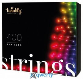 Twinkly Strings RGB 400, BT+WiFi, Gen II, IP44 кабель черный(TWS400STP-BEU)