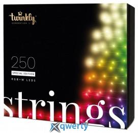 Twinkly Strings RGBW 250, BT+WiFi, Gen II, IP44, кабель черный(TWS250SPP-BEU)