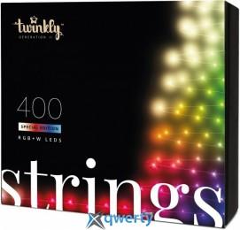 Twinkly Strings RGBW 400, BT+WiFi, Gen II, IP44, кабель черный(TWS400SPP-BEU)
