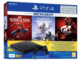 PlayStation 4 Slim 1TB Black + Marvel