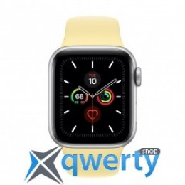 Apple Watch Series 5 GPS 44mm Silver Aluminum Case with Lemon Cream (MWT32)