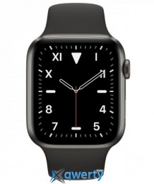 Apple Watch Series 5 GPS 44mm Space Black Titanium Space Black Sport Band (MWR52)