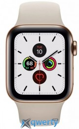 Apple Watch Series 5 LTE 40mm Gold Steel w. Stone b.- Gold Steel (MWWU2) (MWX62)