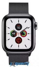 Apple Watch Series 5 LTE 40mm Space Black Steel w. Space Black Milanese Loop - Space Black Steel (MWWX2) /(MWX92)