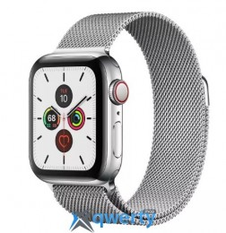 Apple Watch Series 5 LTE 40mm Steel w. Steel Milanese Loop - Steel (MWWT2) (MWX52)