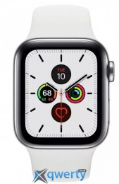 Apple Watch Series 5 LTE 40mm Steel w. White b.- Steel (MWWR2) (MWX42)