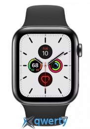 Apple Watch Series 5 LTE 44mm Space Black Steel w. Black b.- Space Black Steel (MWW72) (MWWK2)