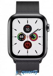 Apple Watch Series 5 LTE 44mm Space Black Steel w. Space Black Milanese Loop - Space Black Steel (MWW82) (MWWL2)