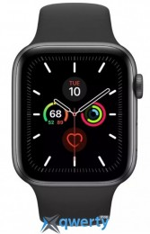 Apple Watch Series 5 LTE 44mm Space Gray Aluminum w. Black b.- Space Gray Aluminum (MWW12) (MWWE2)