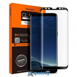 Spigen Galaxy S9+ Glass Glas.tR Curved HD Black 1Pack (593GL22907)