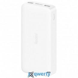 Xiaomi Redmi 20000mAh (in 2.1A Micro-USB,Type-C/ out 2*2.4A) White (VXN4265CN / VXN4285)