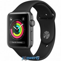 Apple Watch Series 3 GPS, 38mm Space Grey Aluminium Case with Blac (MTF02GK/A)