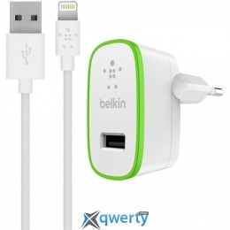 Belkin Home Charger 1xUSB 2.4A White with Lightning 1.2m (F8J125vf04-WHT)