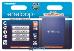 Panasonic Eneloop AAA 750 4BP mAh NI-MH+case (BK-4MCCEC4BE)