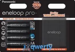 Panasonic Eneloop Pro AA 2500 mAh 4BP+ Case (BK-3HCDEC4BE)