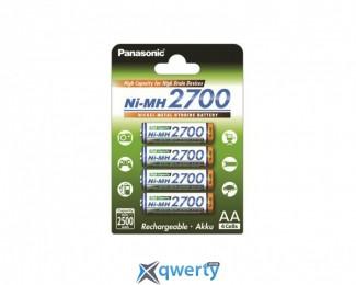 Panasonic High Capacity AA 2700 mAh 4BP Ni-MH (BK-3HGAE/4BE)