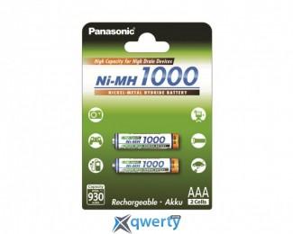 Panasonic High Capacity AAA 1000 mAh 2BP NI-MH (BK-4HGAE/2BE)
