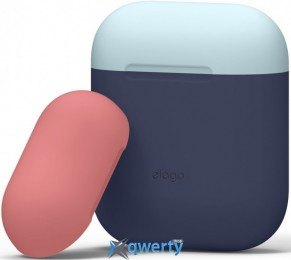 Elago Duo Case for Airpods Jean Indigo/Pastel Blue/Italian Rose (EAPDO-JIN-PBLIR)