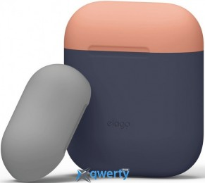 Elago Duo Case for Airpods Jean Indigo/Peach/Medium Grey (EAPDO-JIN-PEMGY)