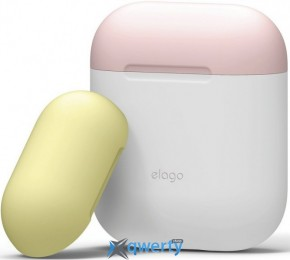 Elago Duo Case for Airpods Jean White/Pink/Yellow (EAPDO-WH-PKYE)