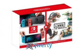 Nintendo Switch Neon Blue-Red (Upgraded Version) + Nintendo Labo Vehicle Kit
