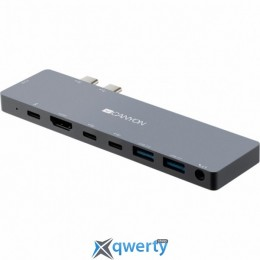 CANYON Docking Station with 8 port, 1*Type C PD100W+2*Type C, Input (CNS-TDS08DG)