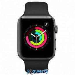 Apple Watch Series 3 GPS, 42mm SpaceGrey Aluminium Case Black Band (MTF32FS/A)