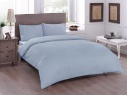 Двуспальный евро комплект TAC Basic Blue Ранфорс (60180251)