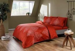 Двуспальный евро комплект TAC Caledon Red Сатин-Digital (60190979)