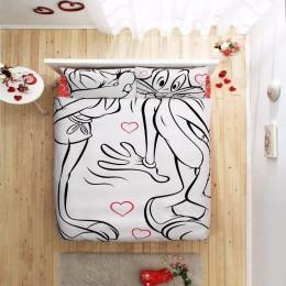 Двуспальный евро комплект TAC Disney Bugs Bunny & Lola Ранфорс / простынь на резинке (60114788)