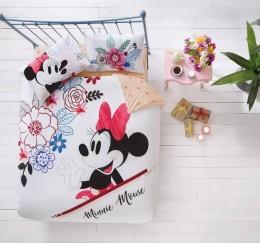 Двуспальный евро комплект TAC Disney M&M Watercolor Ранфорс / простынь на резинке (60209438)
