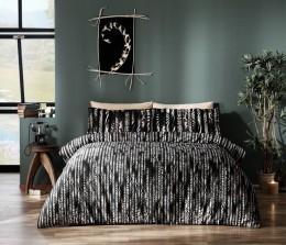 Двуспальный King Size комплект TAC Selina Black Сатин-Digital (60110035)