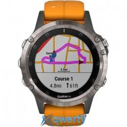 Garmin Fenix 5 Plus Sapphire Orange (010-01988-05)