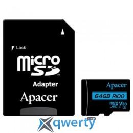 Apacer 64GB microSDHC class 10 UHS-I U3 V30 (AP64GMCSX10U7-R)