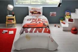 Комплект постельного белья с покрывалом-пике TAC Cars Piston Cup / простынь на резинке (60175651)
