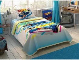 Комплект постельного белья с покрывалом-пике TAC Hot Wheels Limits / простынь на резинке (60201767)