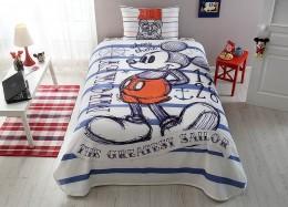 Комплект постельного белья с покрывалом-пике TAC Mickey Sailor / простынь на резинке (60153055)