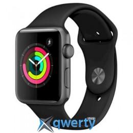 Apple Watch Series 3 GPS, 42mm Space Grey Aluminium Case with Black (MTF32GK/A)