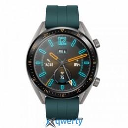 Huawei Watch GT FTN-B19 Titanium Grey Stainless Steel  Dark Green Fluoroelastomer Strap