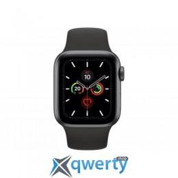 Apple Watch Series 5 GPS, 40mm Space Grey Aluminium Case with Blac (MWV82UL/A)