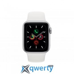 Apple Watch Series 5 GPS, 44mm Silver Aluminium Case with White Sp (MWVD2UL/A)