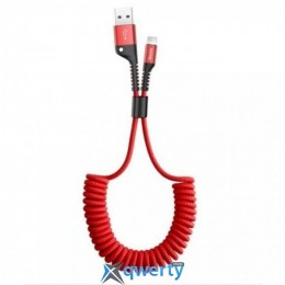 Lightning Baseus Fish eye Spring Data Cable 2A 1м Red (CALSR-09)